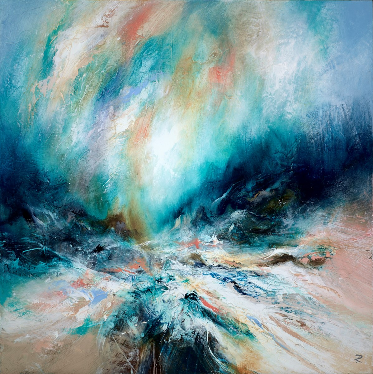 Jewelled Seas II by chris and steve rocks -  sized 30x30 inches. Available from Whitewall Galleries